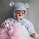 """Для новорожденных, ручной работы. Комплект шапок """"Радужный мышонок"""". Mария Green Eyes & сompany. Ярмарка Мастеров. Мышонок"""
