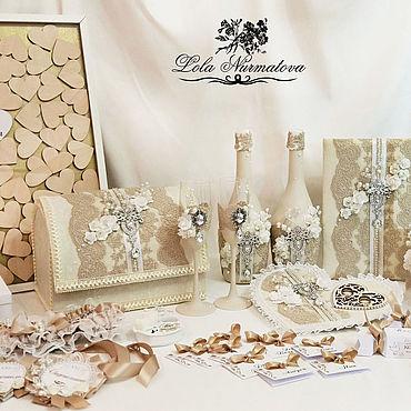 Свадебный салон ручной работы. Ярмарка Мастеров - ручная работа Комплект свадебных аксессуаров. Handmade.