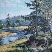 """Картины и панно ручной работы. Ярмарка Мастеров - ручная работа Вышитая картина """"Летний полдень"""". Handmade."""