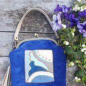 Классическая сумка ручной работы. Ярмарка Мастеров - ручная работа Сумка из натуральной кожи с орнаментом. Handmade.