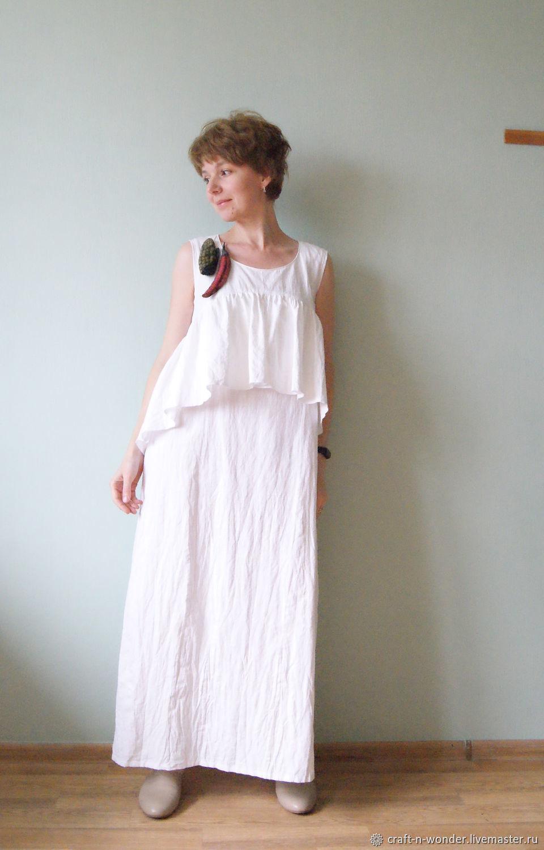 Платья ручной работы. Ярмарка Мастеров - ручная работа. Купить Платье льняное 'Молоко'. Handmade. Африка, платье женское