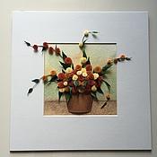 """Картины и панно ручной работы. Ярмарка Мастеров - ручная работа Картина в технике квиллинг """"Осень"""". Handmade."""