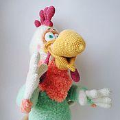 Куклы и игрушки ручной работы. Ярмарка Мастеров - ручная работа Петух Расти вязаная игрушка. Handmade.