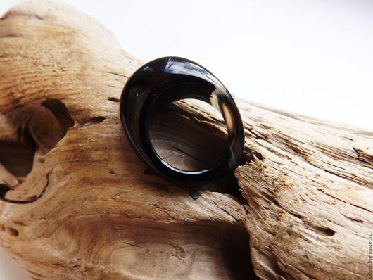 Кольца ручной работы. Ярмарка Мастеров - ручная работа. Купить Кольцо из агата Таинственный лес 18 размер. Handmade. Черный