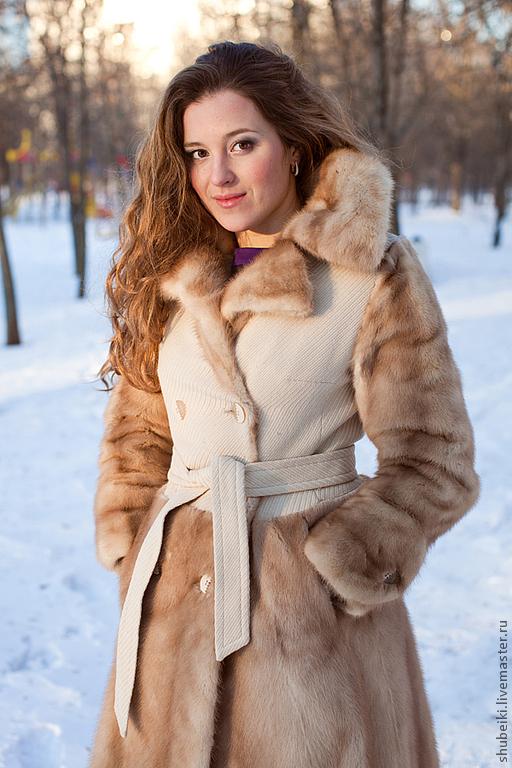 Верхняя одежда ручной работы. Ярмарка Мастеров - ручная работа. Купить Пальто с отделкой норкой. Handmade. Натуральный мех, зима
