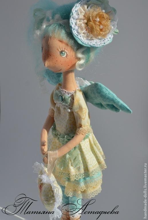 Коллекционные куклы ручной работы. Ярмарка Мастеров - ручная работа. Купить Ангел. Handmade. Бирюзовый, текстильная игрушка, кукла в подарок