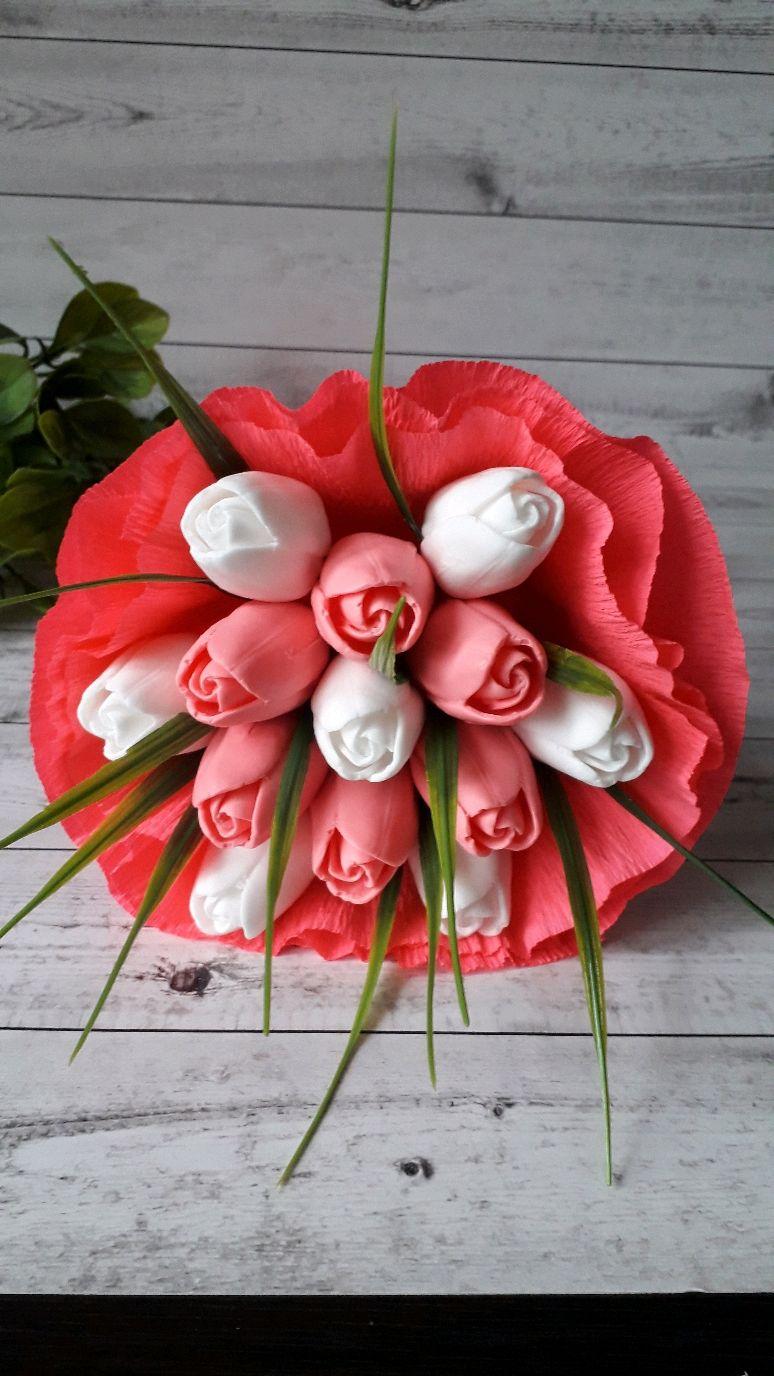 Букет из мыла. 13 тюльпанов, Подарки на 8 марта, Москва,  Фото №1