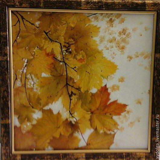 """Картины цветов ручной работы. Ярмарка Мастеров - ручная работа. Купить картина маслом """"листопад """"30-30 см. Handmade."""