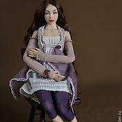 Куклы и игрушки ручной работы. Ярмарка Мастеров - ручная работа Шарнирная фарфоровая кукла Оливия-2. Фарфор ,15,5 см. Миниатюра 1/12. Handmade.