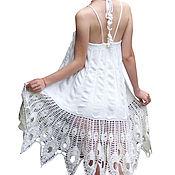 "Одежда ручной работы. Ярмарка Мастеров - ручная работа Вязаный сарафан-юбка ""Лунная фея"". Handmade."