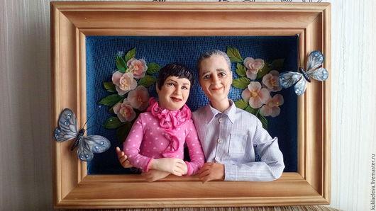 Портретные куклы ручной работы. Ярмарка Мастеров - ручная работа. Купить Кукольный семейный портрет. Handmade. Подарок на день рождения