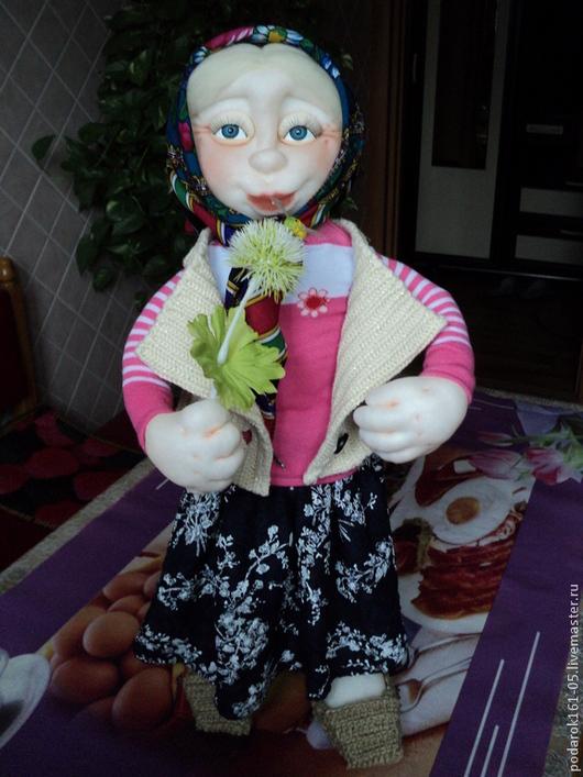 Человечки ручной работы. Ярмарка Мастеров - ручная работа. Купить любимая бабулька. Handmade. Бабушке, подарок на юбилей, чулочная кукла