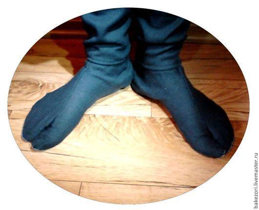 Носки, Чулки ручной работы. Ярмарка Мастеров - ручная работа. Купить Таби (ниндзя-шузы), традиционные японские носки. Handmade.