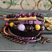 Украшения handmade. Livemaster - original item Beautiful boho hand bracelet with agates