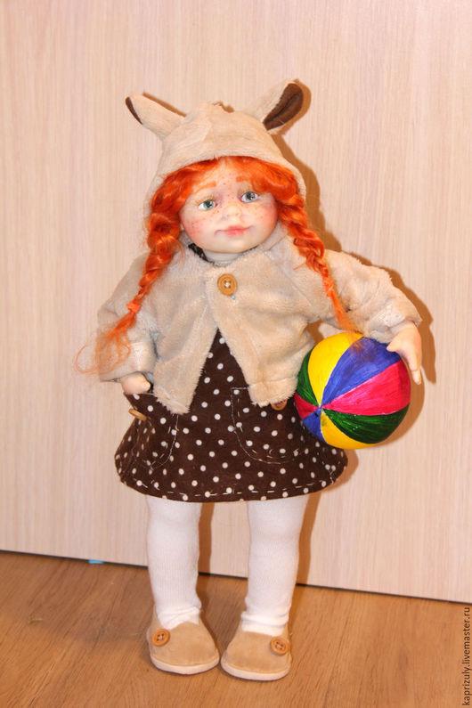 Коллекционные куклы ручной работы. Ярмарка Мастеров - ручная работа. Купить Светланка. Handmade. Коричневый, куклы и игрушки, полимерная глина