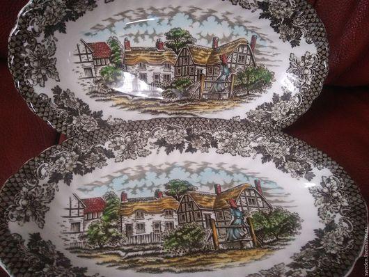 Винтажная посуда. Ярмарка Мастеров - ручная работа. Купить АНГЛИЙСКИЙ фарфор MERRIE OLDE ENGLAND тарелки глубокие  2 штук. Handmade.