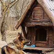 Для домашних животных, ручной работы. Ярмарка Мастеров - ручная работа утепленная будка для собаки. Handmade.