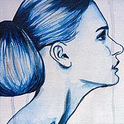 Картины и панно ручной работы. Ярмарка Мастеров - ручная работа Гжель. Handmade.