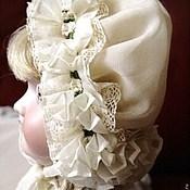 Куклы и игрушки ручной работы. Ярмарка Мастеров - ручная работа Чепец  для антикварной куклы № 2. Handmade.