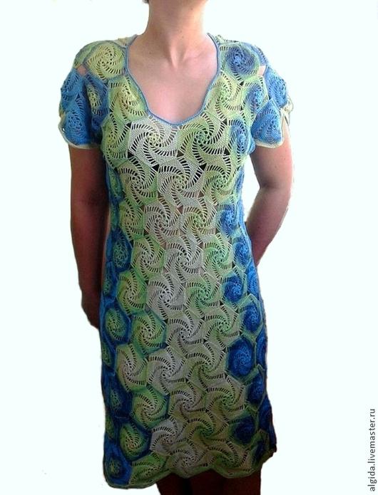 Платья ручной работы. Ярмарка Мастеров - ручная работа. Купить Авторское платье Жаннета из хлопка. Handmade. Цветочный, платье летнее