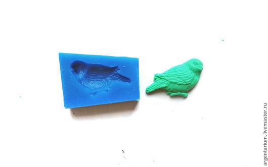 Для украшений ручной работы. Ярмарка Мастеров - ручная работа. Купить Воробей-2 силиконовый молд. Handmade. Тёмно-синий