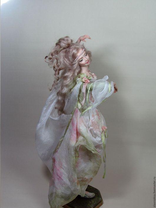 Коллекционные куклы ручной работы. Ярмарка Мастеров - ручная работа. Купить ТАНЦУЮЩАЯ НИМФА авторская кукла. Handmade. Авторская кукла