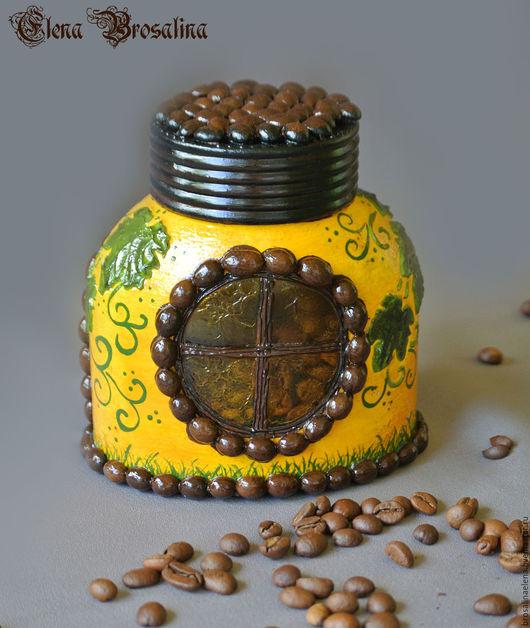 кофейный домик, домик для кофе, натуральный кофе, баночка для хранения кофе