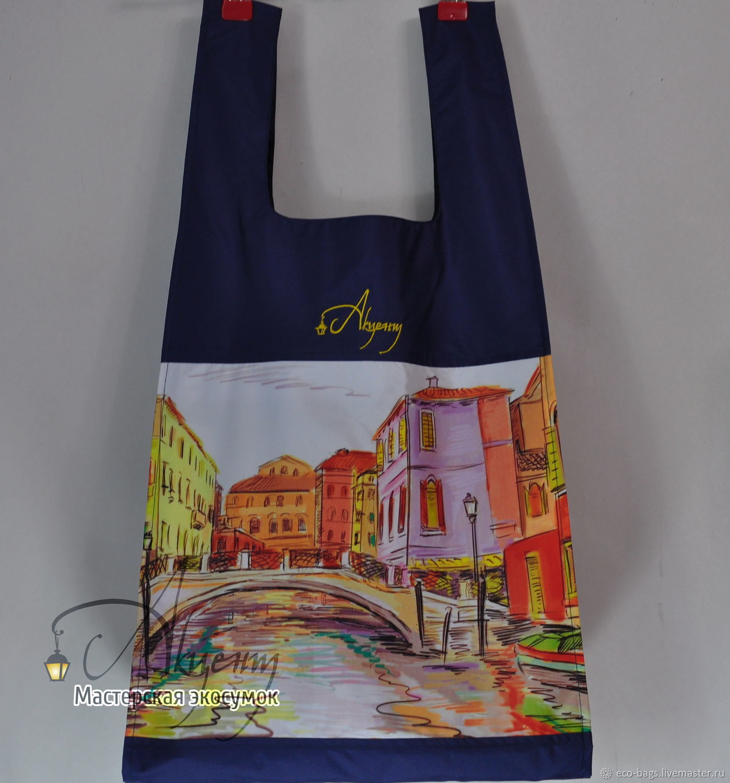"Сумка для покупок ""Венеция"" темно-синяя, Сумка-шоппер, Гай,  Фото №1"
