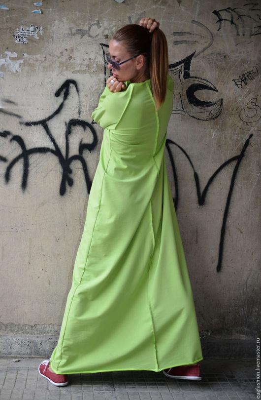 Длинное платье, Платье в пол, Платье с длинным рукавом, Платье свободное, Платье, Ярмарка Мастеров.