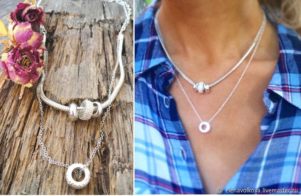 Double chain necklace - stylish decoration for every day, Necklace, Yaroslavl,  Фото №1