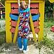 Одежда для девочек, ручной работы. Ярмарка Мастеров - ручная работа. Купить Комплект для девочки-тройка: платье,  топ и легенсы.. Handmade.