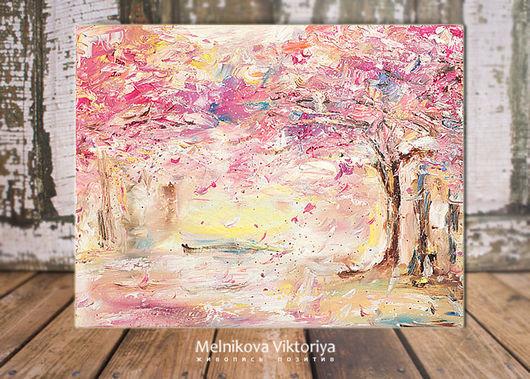 Картина маслом `Волшебная весна` 50/40 см холст на подрамнике