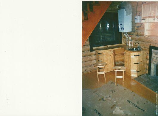 Мебель ручной работы. Ярмарка Мастеров - ручная работа. Купить Кухонный уголок для бани. Handmade. Желтый, русский стиль