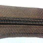 Молнии ручной работы. Ярмарка Мастеров - ручная работа Молния №5 витая рулонная коричневая. Handmade.
