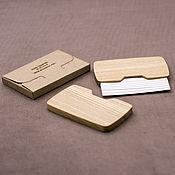 Визитницы ручной работы. Ярмарка Мастеров - ручная работа Визитница из дерева. Handmade.