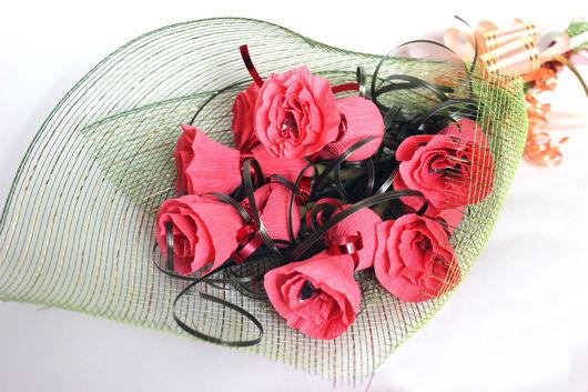 Букеты ручной работы. Ярмарка Мастеров - ручная работа. Купить Букет сладких роз. Handmade. Разноцветный, букет из роз