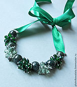 Украшения handmade. Livemaster - original item A scattering of emerald necklace. Handmade.