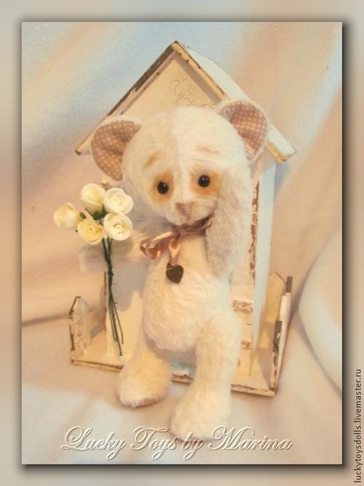 Мишки Тедди ручной работы. Ярмарка Мастеров - ручная работа. Купить Белый Мишка из немецкой вискозы. Handmade. Белый