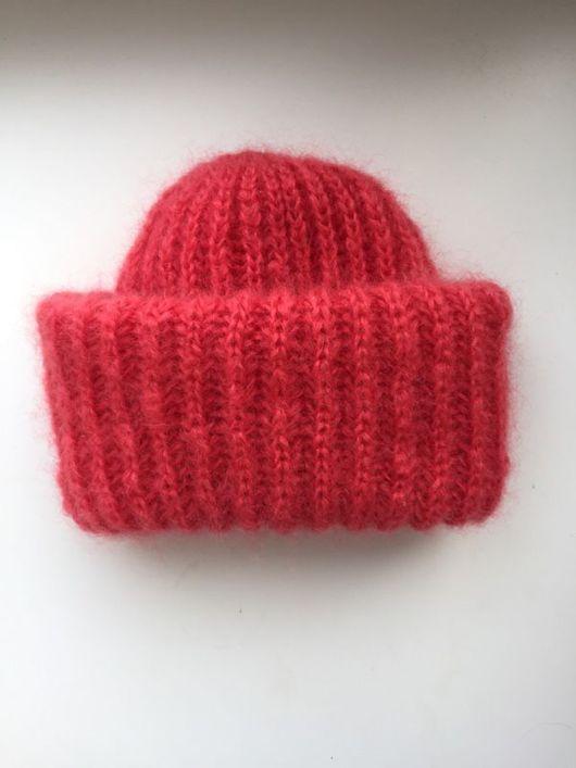 Шапки ручной работы. Ярмарка Мастеров - ручная работа. Купить Вязаная шапочка из мохера в стиле Такори. Handmade. Однотонный, шапка
