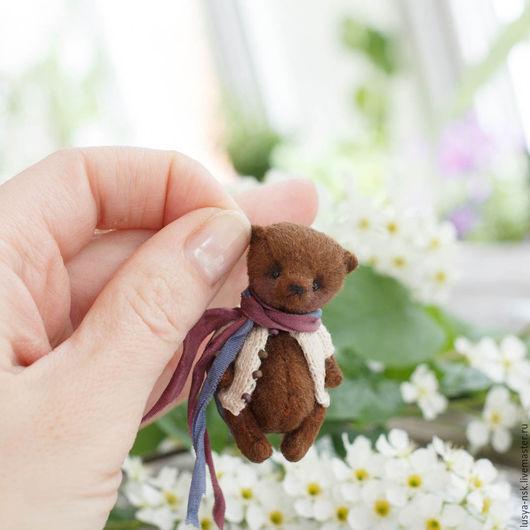 Мишки Тедди ручной работы. Ярмарка Мастеров - ручная работа. Купить Тед. Handmade. Коричневый, миниатюрный мишка, Мех для миников