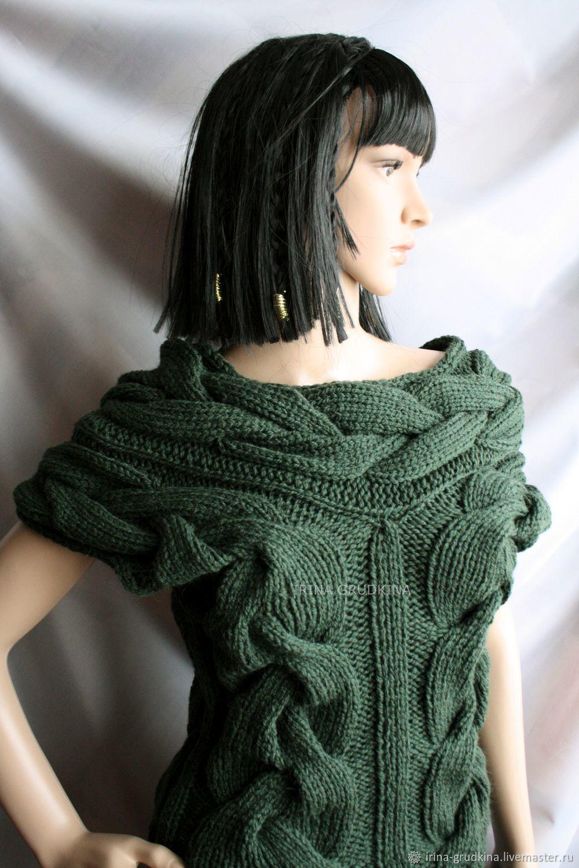 Green tank top with braids, Vests, Lomonosov,  Фото №1