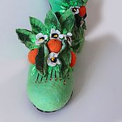 Обувь ручной работы handmade. Livemaster - original item Slippers home Slippers