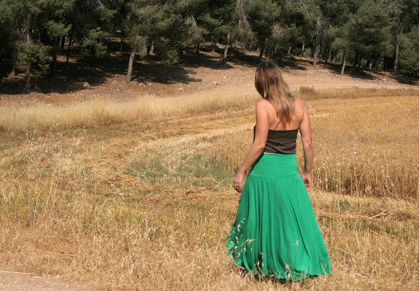 Широкий пояс для юбки