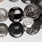 Украшения handmade. Livemaster - original item Bracelet men`s 12mm beads MIX with walnut bead 13mm. Handmade.