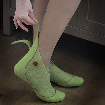 Обувь ручной работы. Ярмарка Мастеров - ручная работа Валяные носочки - НИЛЬСЫ для всей семьи. Handmade.