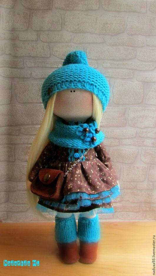 Коллекционные куклы ручной работы. Ярмарка Мастеров - ручная работа. Купить Интерьерная текстильная кукла-ШОКОЛАДНАЯ БИРЮЗА. Handmade.