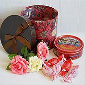 """Цветы и флористика ручной работы. Ярмарка Мастеров - ручная работа Набор в коробке """"Кошки и розы"""". Handmade."""