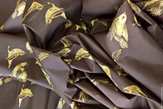 Шитье ручной работы. Ярмарка Мастеров - ручная работа. Купить Курточная ткань Италия. Handmade. Коричневый желтый, для женщины девушки