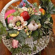 Цветы и флористика ручной работы. Ярмарка Мастеров - ручная работа Подарочная композиция на зимний юбилей. Handmade.