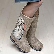 """Обувь ручной работы. Ярмарка Мастеров - ручная работа Валенки """"Зайцы"""". Handmade."""